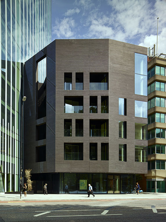 240 Blackfriars Road ~ AHMM Architects ~ Roben Black Faro Brick