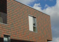 New Lightweight cladding with clay tiles
