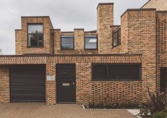 Beautiful brick facades for new town houses